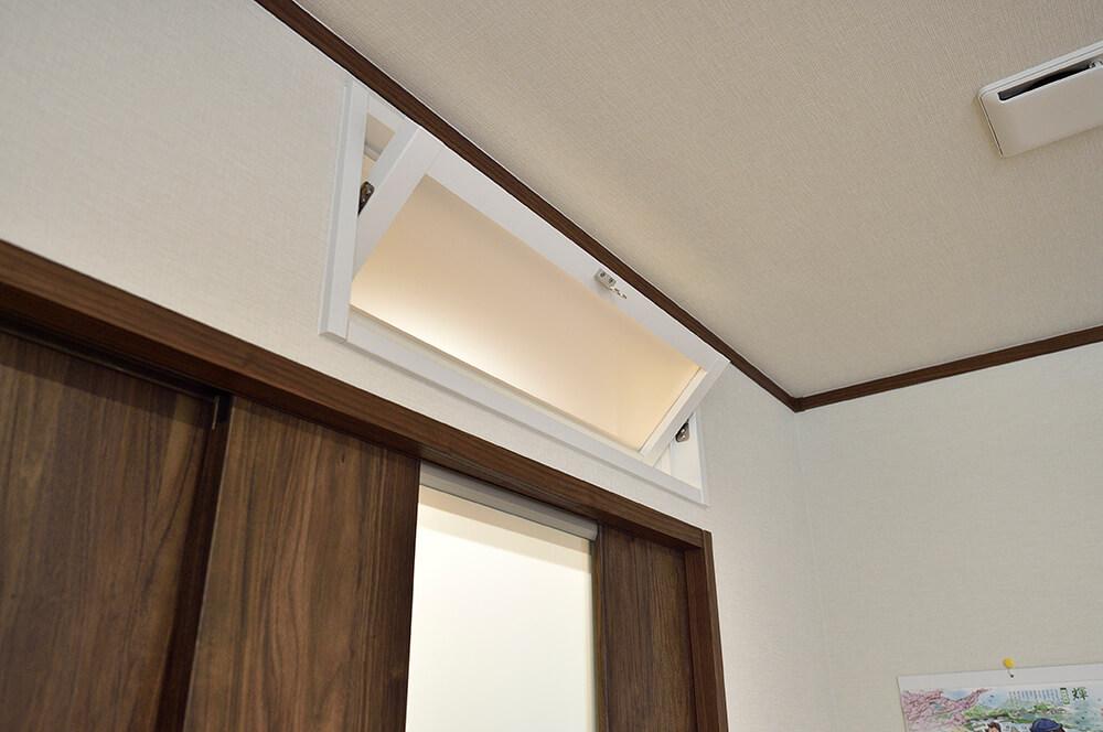 風通し窓を開ければ、エアコンの空気が リビングから玄関まで行き渡ります。